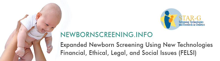 Banner for the newbornscreening fact sheets